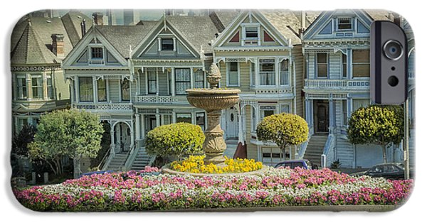 Historic Home iPhone Cases - Alamo Square iPhone Case by Erik Brede