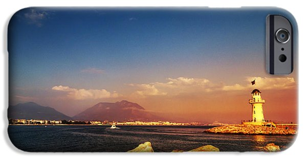 Coast Pyrography iPhone Cases - Alanya iPhone Case by Jelena Jovanovic