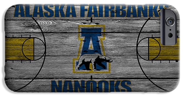 Dunk iPhone Cases - Alaska Fairbanks Nanooks iPhone Case by Joe Hamilton