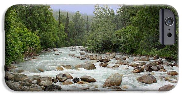 Little iPhone Cases - Alaska - Little Susitna River iPhone Case by Kim Hojnacki