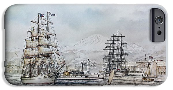 Tall Ship iPhone Cases - Alaska Packers Cannery iPhone Case by James Williamson