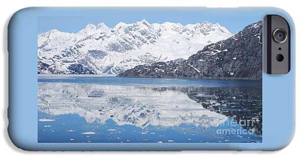 Christmas Greeting iPhone Cases - Alaska Reflections # 2 iPhone Case by Marcus Dagan