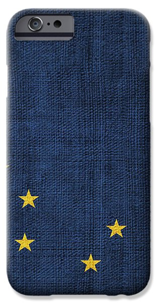 Alaska state flag iPhone Case by Pixel Chimp