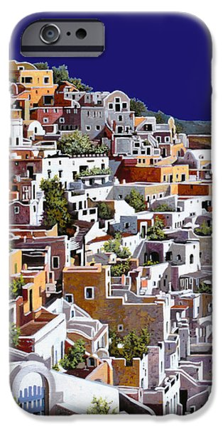 White House Paintings iPhone Cases - alba a Santorini iPhone Case by Guido Borelli