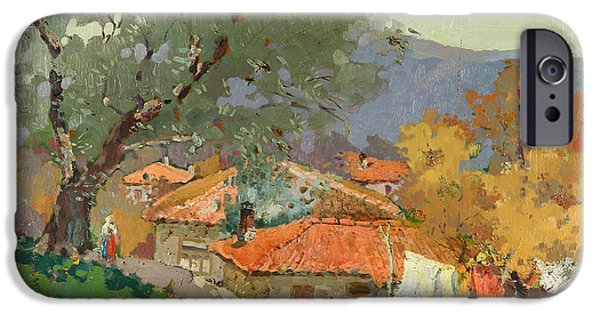 Village iPhone Cases - Albanian Countryside iPhone Case by Ylli Haruni