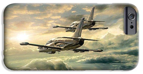 Aero iPhone Cases - Albatrosses High iPhone Case by Peter Van Stigt