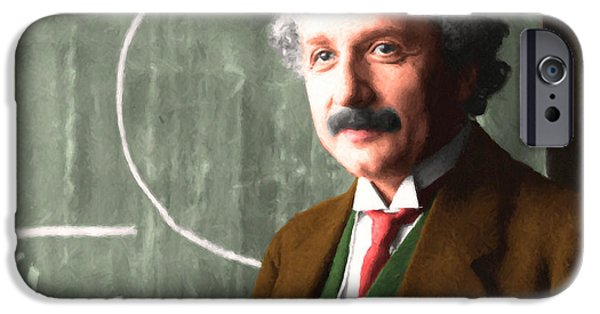 Relativity iPhone Cases - Albert Einstein 20140910 horizontal iPhone Case by Wingsdomain Art and Photography