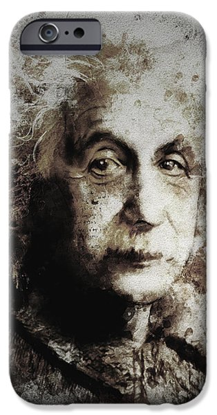 Berlin Germany iPhone Cases - Albert Einstein iPhone Case by Shanina Conway