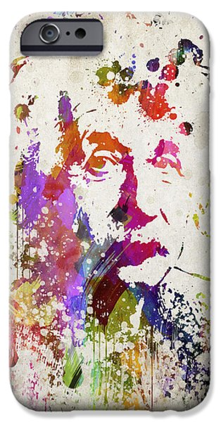 Bathroom iPhone Cases - Albert in Color iPhone Case by Aged Pixel