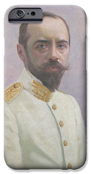 Politician iPhone Cases - Albert Sarraut 1872-1962 Oil On Canvas iPhone Case by Mascre Souville