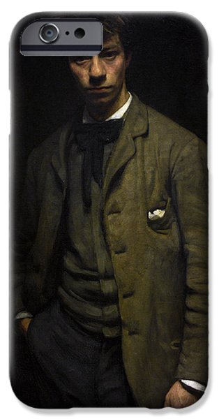 19th Century Photographs iPhone Cases - Albert Verwey 1865-1937. Dutch Poet. Portrait By Jan Veth 1864-1925 iPhone Case by Bridgeman Images