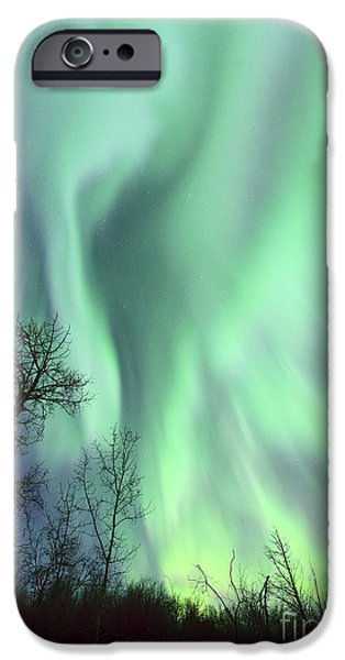 Aurora iPhone Cases - Alberta Aurora iPhone Case by Dan Jurak