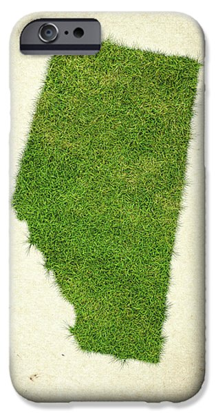 Waste iPhone Cases - Alberta Grass Map iPhone Case by Aged Pixel