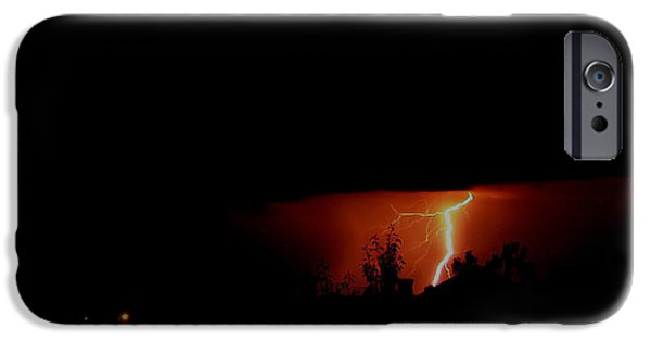 Lightning Photographer iPhone Cases - Alberta Lightning VII iPhone Case by Al Bourassa