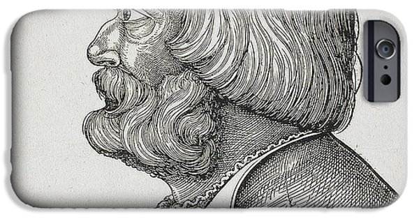 Painter Print Photographs iPhone Cases - Albrecht Durer iPhone Case by Los Angeles County Museum
