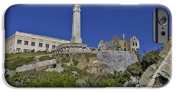Alcatraz iPhone Cases - Alcatraz abandoned iPhone Case by David Berg