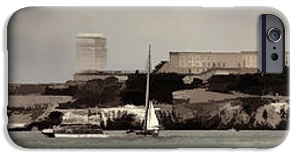 Alcatraz iPhone Cases - Alcatraz Americas Cup iPhone Case by Chuck Kuhn