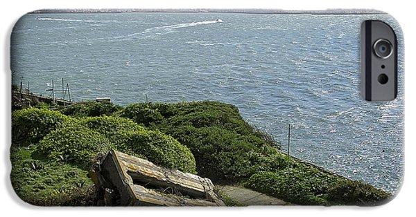 Alcatraz iPhone Cases - ALCATRAZ and SAN FRANCISCO iPhone Case by Daniel Hagerman