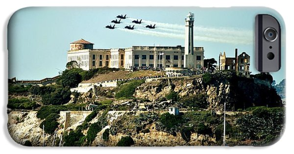 Alcatraz iPhone Cases - Alcatraz Blues iPhone Case by Benjamin Yeager