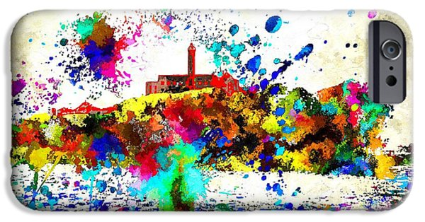 Alcatraz Mixed Media iPhone Cases - Alcatraz iPhone Case by Daniel Janda