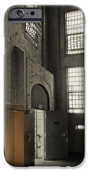 Alcatraz iPhone Cases - ALCATRAZ DOORWAY to FREEDOM iPhone Case by Daniel Hagerman