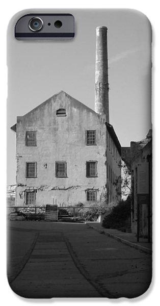 Alcatraz Pyrography iPhone Cases - Alcatraz Foundry iPhone Case by Fabien White