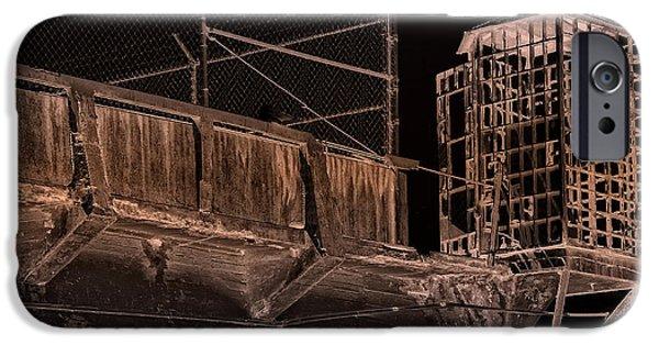 Alcatraz iPhone Cases - Alcatraz Gun Walk Guard Cage iPhone Case by Daniel Hagerman