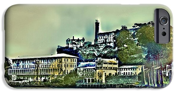 Alcatraz iPhone Cases - Alcatraz Harbor iPhone Case by Mark  Gregg