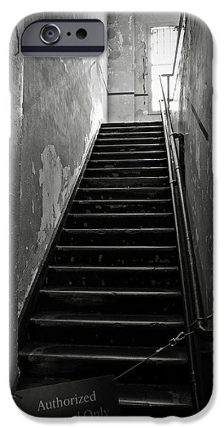 Alcatraz iPhone Cases - Alcatraz Hospital Stairs iPhone Case by RicardMN Photography