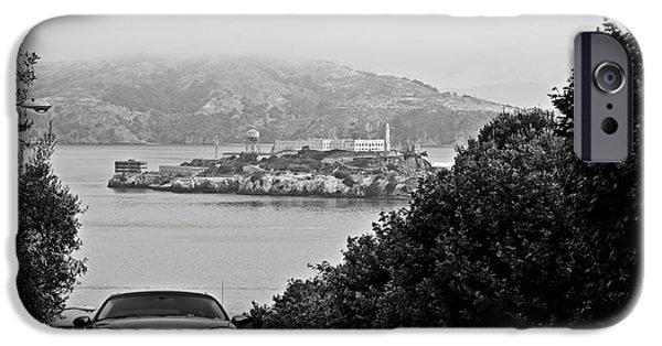 Alcatraz iPhone Cases - Alcatraz Island from Hyde Street in San Francisco iPhone Case by RicardMN Photography