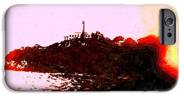 Alcatraz Mixed Media iPhone Cases - Alcatraz Island Vintage iPhone Case by Daniel Janda