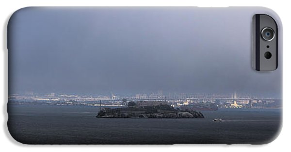 Alcatraz iPhone Cases - Alcatraz Panorama iPhone Case by Viktor Savchenko
