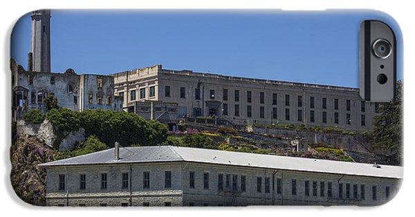 Alcatraz iPhone Cases - Alcatraz Prison iPhone Case by John McGraw