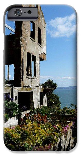 Alcatraz iPhone Cases - Alcatraz Ruin iPhone Case by Avis  Noelle