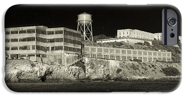 Alcatraz iPhone Cases - Alcatraz The Rock Sepia 1 iPhone Case by Scott Campbell