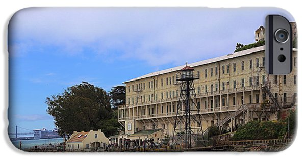 Alcatraz iPhone Cases - Alcatraz  Building 64 iPhone Case by Viktor Savchenko