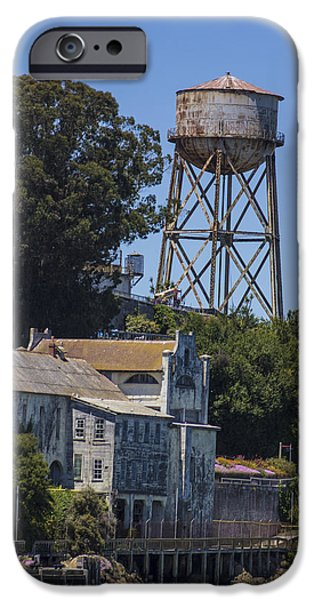 Alcatraz iPhone Cases - Alcatraz Water Tower iPhone Case by John McGraw