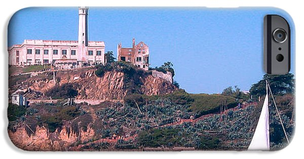 Alcatraz iPhone Cases - Alcatraz - Wish You Were Here iPhone Case by J H Clery