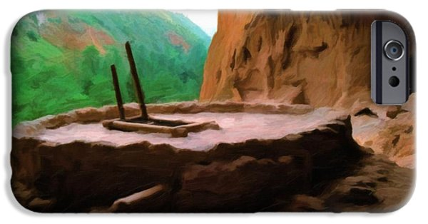 Valles Grande National Preserve iPhone Cases - Alcove House - Oil iPhone Case by Jon Burch Photography