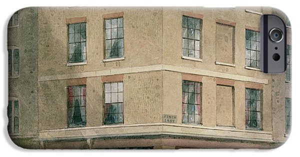 Shop Window iPhone Cases - Alderman Moons Print Shop, Wc On Paper iPhone Case by Thomas Hosmer Shepherd