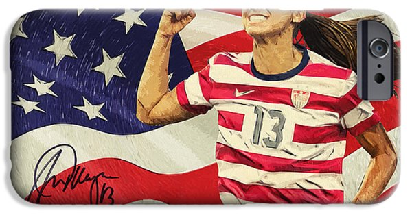 Olympic Gold Medalist iPhone Cases - Alex Morgan iPhone Case by Taylan Soyturk