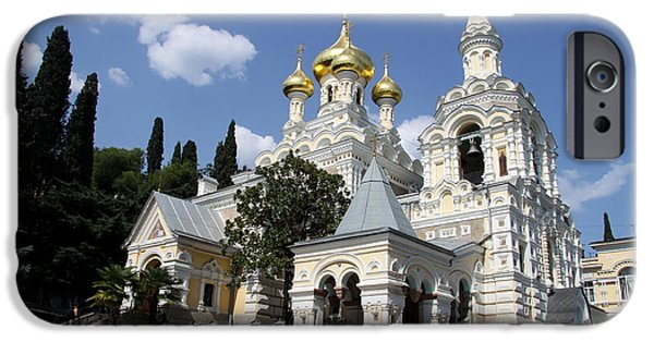 Built Structure iPhone Cases - Alexander - Newski - Church - Yalta iPhone Case by Christiane Schulze Art And Photography