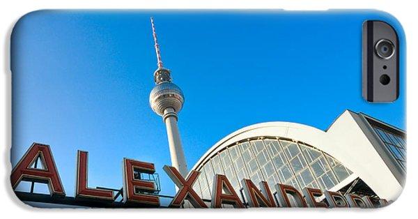 U-bahn iPhone Cases - Alexander Platz - Berlin - Germany iPhone Case by Luciano Mortula