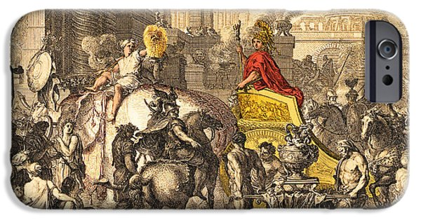 King Of The Persians iPhone Cases - Alexander the Great entering Babylon iPhone Case by Getty Research Institute
