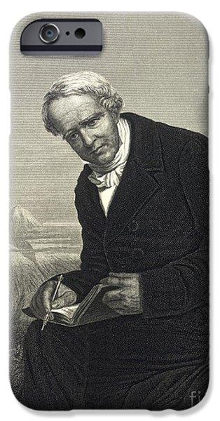 Chimborazo iPhone Cases - Alexander Von Humboldt, German Naturalist iPhone Case by British Library