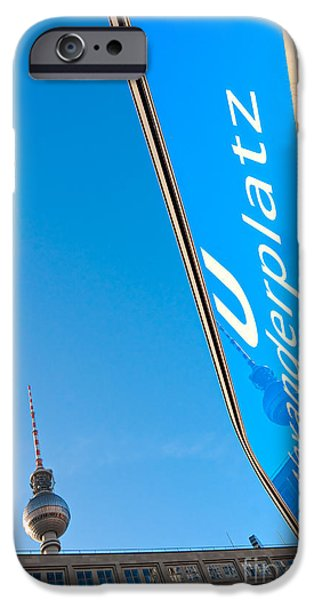 U-bahn iPhone Cases - Alexanderplatz - Berlin iPhone Case by Luciano Mortula