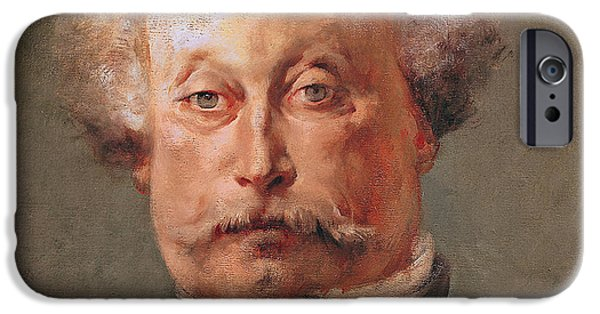 Mustaches iPhone Cases - Alexandre Dumas iPhone Case by Georges Clairin