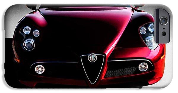 Alfa Romeo iPhone Cases - Alfa Romeo 8C iPhone Case by Douglas Pittman