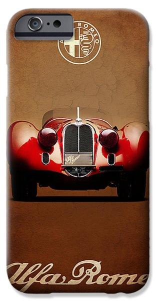 Alfa Romeo iPhone Cases - Alfa Romeo 8C iPhone Case by Mark Rogan