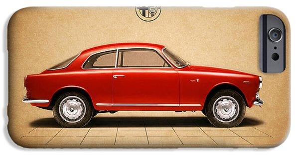 Sprint iPhone Cases - Alfa Romeo Giulietta Sprint iPhone Case by Mark Rogan
